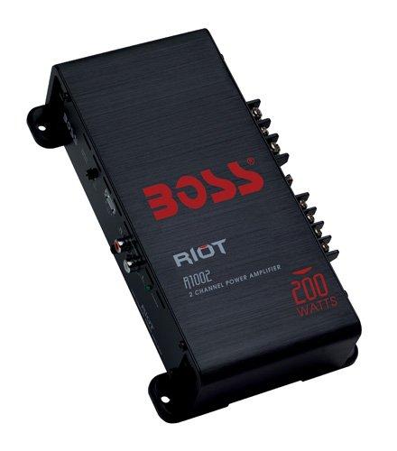 Boss Audio R1002 Riot 200-Watts Full Range Class A/B 2 Channel 2-8 Ohm Stable Amplifier