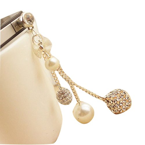 Miss Darcy 3.5Mm New Diamond Pendant Plug Pearl Ball Box Headphone Jack Plug Anti-Dust Plug Stopper For Iphone 3G 3Gs 4 4S 5 5S Samsung Galaxy Note2 S3 S4 I9300 I9500 N7100 Ipad Ipad 2 3 Ipad 4 Ipod Touch Htc Sony And Other 3.5Mm Earjack