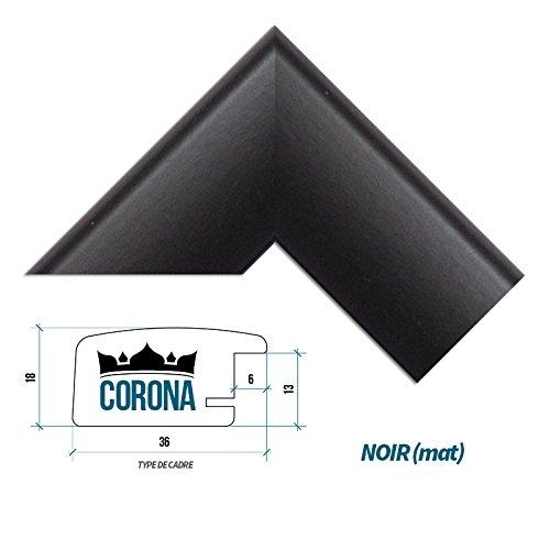 cadre-photo-corona-60-x-70-cm-noir-mat-7-couleurs-noir-blanc-hetre-brun-fonce-alu-brosse-mat-et-bril