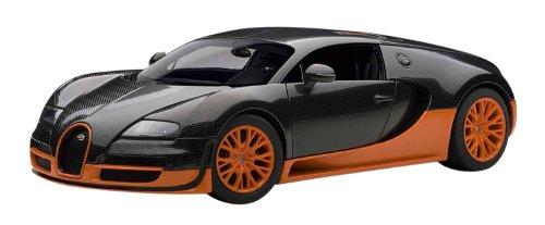 AUTOart 1/18 ブガッティヴェイロン スーパースポーツ (カーボンブラック/オレンジ)