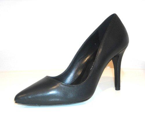 Emanuela Passeri - Scarpe donna decolletè sfilate in punta, pelle liscia nera, tacco alto, n. 40