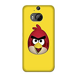 Wrapit Comic Superhero Angrybird Hard Back Case Cover For HTC M9 Plus