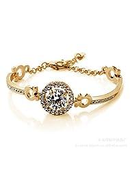 Winwim® -'Wish Stone'- Gold-Plated Zircon Cristal Bracelet- Classic and Elegant