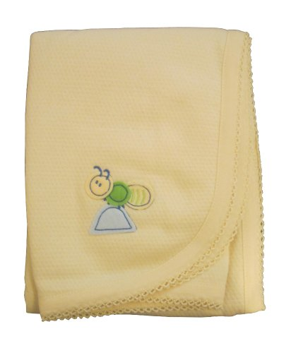 "Carter's Fancy Fleece Baby Blanket (Yellow) 30"" X 30"" - 1"