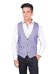 Men's Blue Velvet Waistcoat