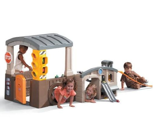 An Image of Little Tikes Race 'n Re-Fuel Pit Stop Playhouse