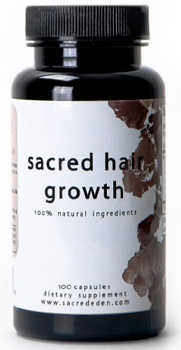 Sacred Hair Growth - Natural Hair Regrowth Treatment for Hair Loss in Men and Women - 100 Capsules, 500 mg