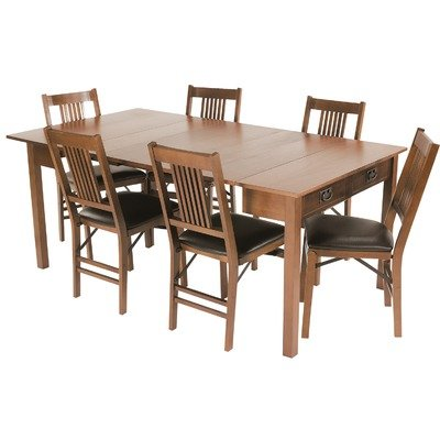 Mission Style Expanding Dining Table in Fruitwood