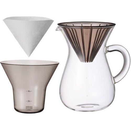 """Karaffe Kaffee-Set von Kinto Japan für """"Slow"""" Kaffee mit extra Filter (insgesamt 80Filter)"""