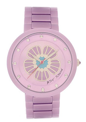 Betsey Johnson Women's Purple Aluminum Bracelet Watch, BJ00114-12