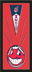 Cleveland Indians Wool Felt Mini Pennant & Cleveland Indians Team logo Photo -... by Art and More, Davenport, IA
