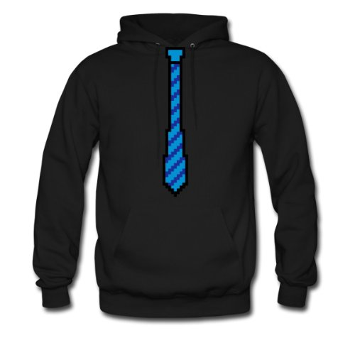 Spreadshirt, 8-Bit Tie, Men's Hoodie, black, M