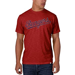 Texas Rangers 47 Brand Cooperstown Collection Red Vintage Scrum T-Shirt by