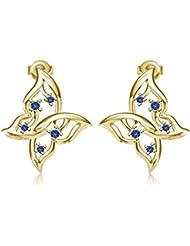 Vorra Fashion .925 Sterling-Silver Stud Earring For Women (Golden)