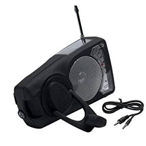 Freeplay Energy Eyemax WB 2009 Self-Sufficient AM/FM/Weatherband Radio, iPod/mp3 dock and LED Flashlight (Black)