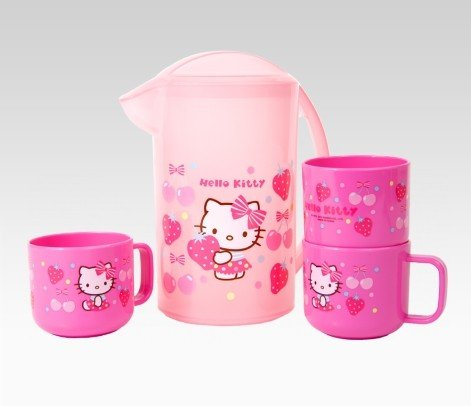 Hello Kitty Pitcher & Cup Set: Pink Fruits
