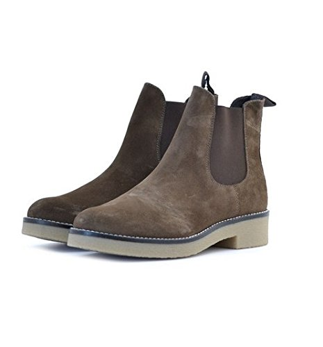 Stivali alla caviglia Soldini donna numero 39 19664TERRA in camoscio marrone beige, woman boots shoes brown suede