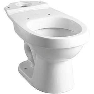 STERLING Rockton Karsten Dual Flush Round Toilet Bowl Only In White White