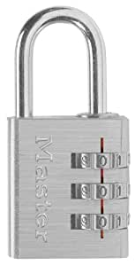 Master Lock 630D Luggage Lock, Brushed Aluminum, 1-3/16-inch Wide