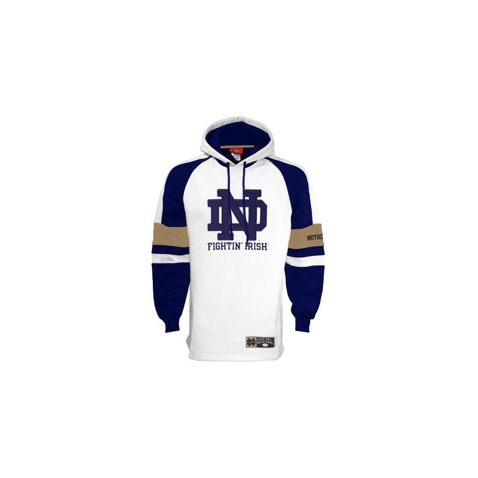 Notre Dame Fighting Irish White Bound for Glory Hoody Sweatshirt