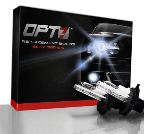 Opt7® Blitz Dc Z-Arc Replacement Hid Bulb Set - H13 Hi-Lo - 5000K Bright White Light Xenon
