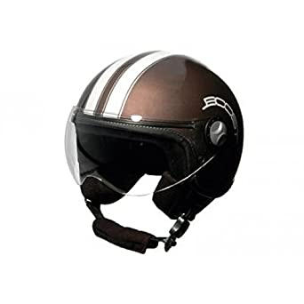 BS02456 - Casque Boost B730 Retro 2 Marron/Blanc Nacré Xl