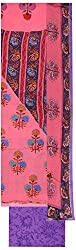 Amour India Women's Chiffon salwar kameez Unstitched Ladies Suit with heavy work(Pink and Purple) Dress Material