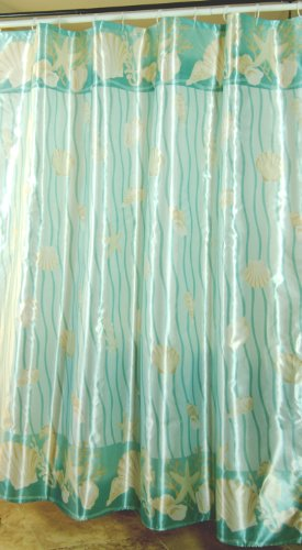[Free Shipping] Quality Polyester Fabric Shower Curtain Surface Coated Waterproof 72