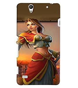 PRINTVISA Warrior Girl Case Cover for Sony Xperia C4