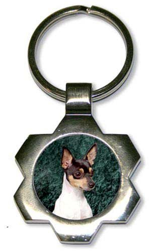 Toy Fox Terrier Star Key Chain