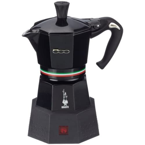 Italian Coffee Maker Electric : Amazon.com: Bialetti: Elettrika Fiat 500. Electric Moka, Fiat Original Design, Colour: Black, 2 ...