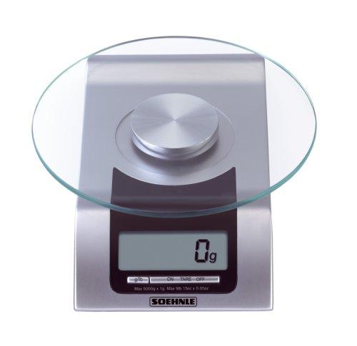 Soehnle 6208305 Balance Electronique Style Plateau Verre 5 Kg / 1 g