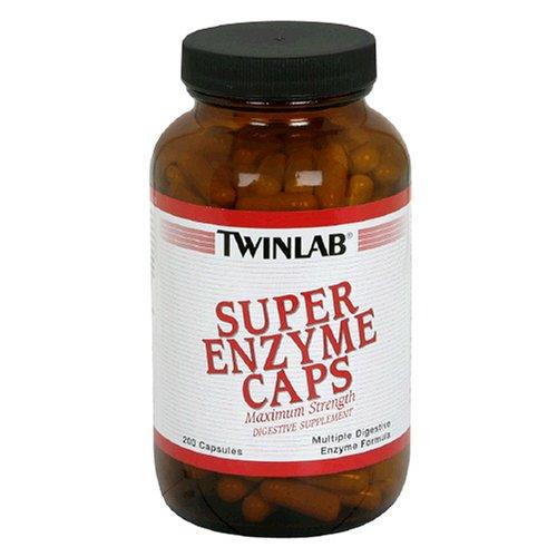 Twinlab super enzyme Caps, Maximum Strength, 200