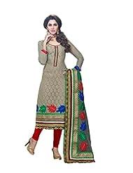 DivyaEmporio Women's Ethnic Salwar Suit Dupatta Unstitched Dress Material (Free Size) - B00V07RL90