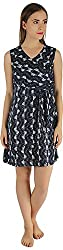 Holidae Women's Abrstract Print Sheath Dress (hi-dr-md-117_XS, Blue and White, XS)
