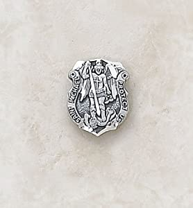 Petite St. Michael Sterling Silver Patron Saint Lapel Pin Catholic Pendant Necklace Jewelry