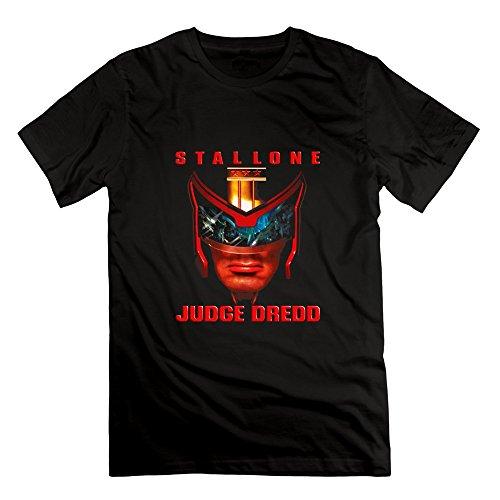 LianJian Judge Dredd Poster Men's T-Shirt Small Black Mens