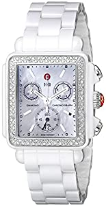 Michele Deco White Ceramic Diamond Mww06f000002 Watch