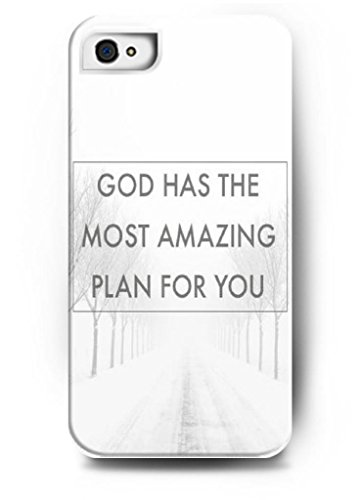 Ouo Design God Has The Most Amazing Plan For You - Iphone 4 / 4S - Hard Snap On Plastic Case - Inspirational And Motivational Life Quotes