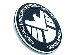 Eagle Marvel Team SHIELD AGENT Noir PVC Airsoft Velcro Patch