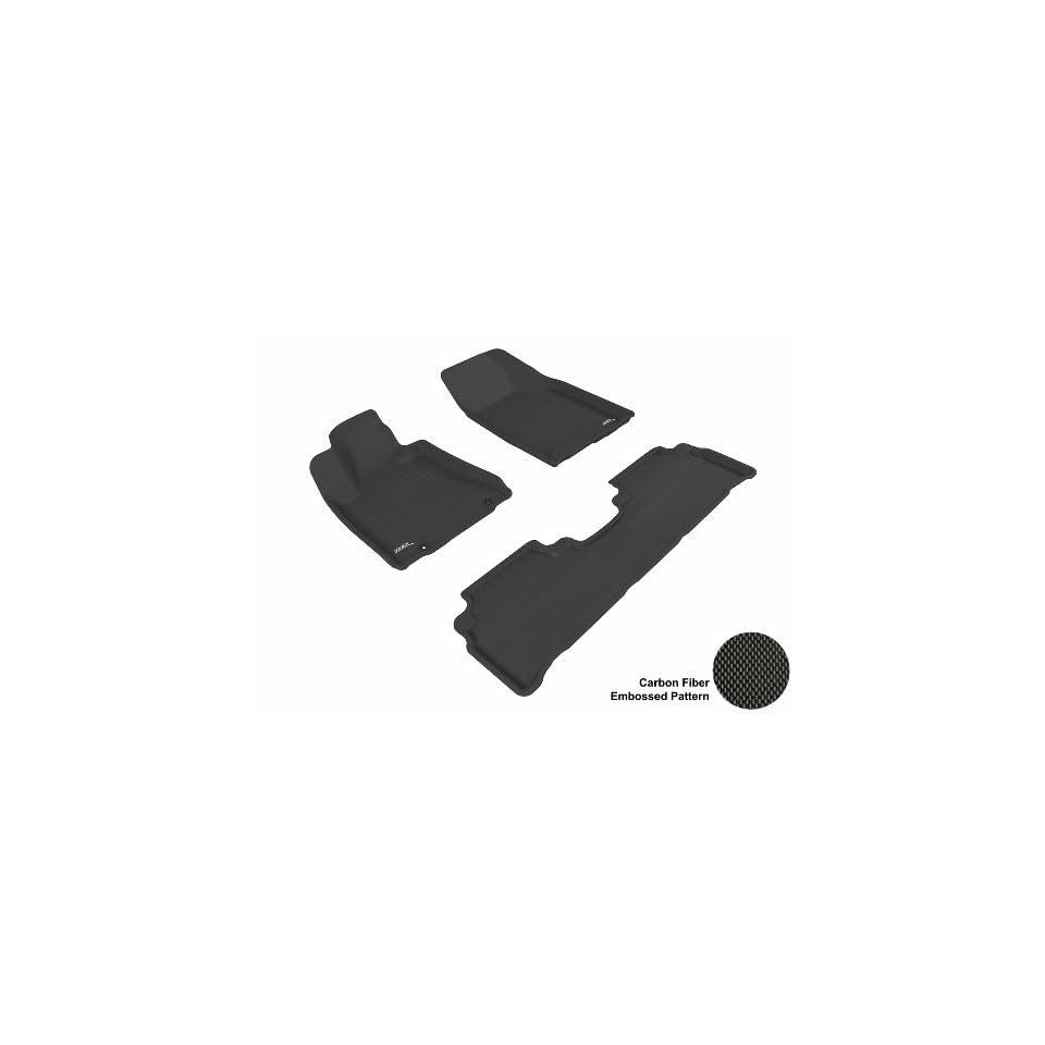 3D MAXpider Complete Set Custom Fit All Weather Floor Mat for Select Lexus RX350/330 Models   Kagu Rubber (Black)