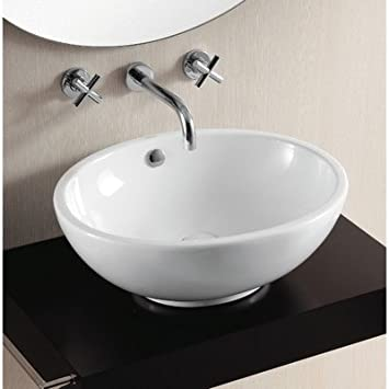 Caracalla Caracalla CA4094-No Hole-637509845162 Ceramica II Collection Bathroom Sink, White