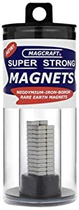 Magcraft NSN0610 1/4-Inch by 1/10-Inch Rare Earth Block Magnets, 50-Count