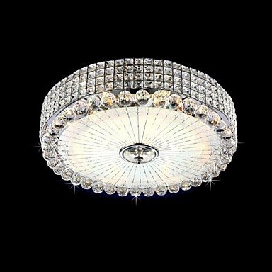 Sunweit 220V Modern Flush Mount 10 Lights In Crystal Feature With Remote Controller