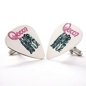 Queen Königin Album Plektrum Manschettenknöpfe Musik weißes Band Konzert Rock