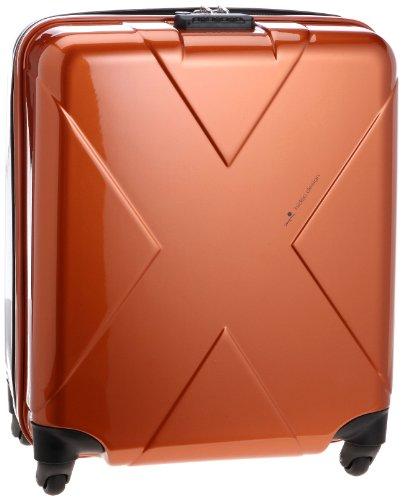 [ヒデオワカマツ] HIDEO WAKAMATSU マックスキャビン TSAジッパーロックスーツケース  85-75289 オレンジ×グレー (オレンジ×グレー)