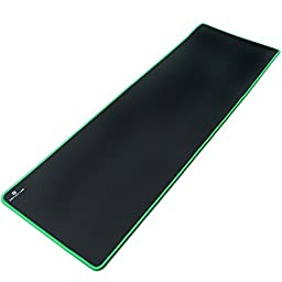 Reflex Lab Large Extended Heavy Mouse Pad / Mat, (Green) Stitched Edges, Waterproof, Ultra Thick 5mm, Silky Smooth - 36\
