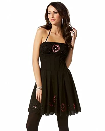 bebe.com Strapless Corset Lace Reveal Dress :  black dress little black dresses dress sexy