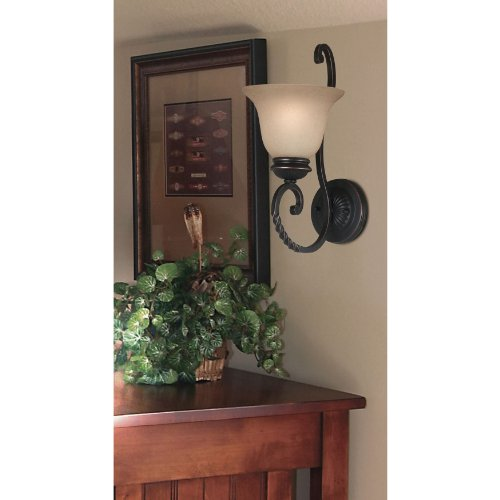 Kenroy Home 10192ORB Oliver Wall Sconce, Oil Rubbed Bronze