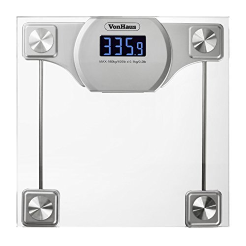 Digital Bathroom Scales For Sale: VonHaus Digital Bathroom Scale
